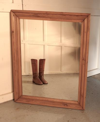 Large Victorian Wall Mirror with a Moulded Pine Frame (1 of 1)