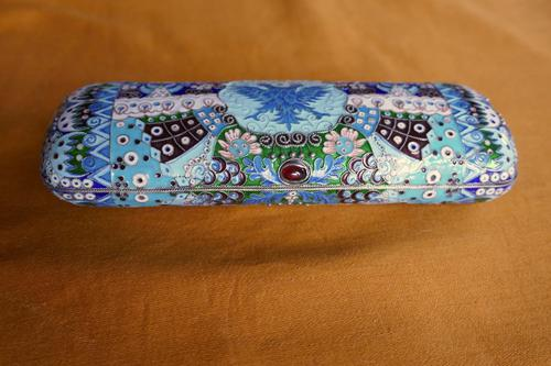 Russian Silver Cloisonné Imperial Eagle Cigar Case (1 of 11)