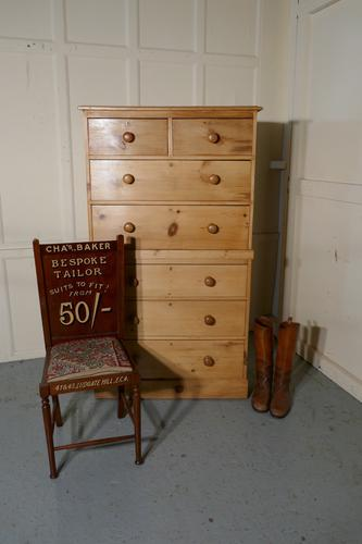 Victorian 7 Pine Drawer Chest on Chest (1 of 1)