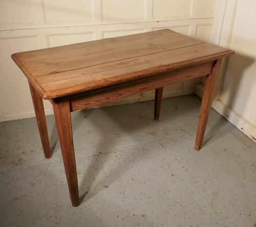 Victorian Planked Top Farmhouse Kitchen Pine Table (1 of 6)