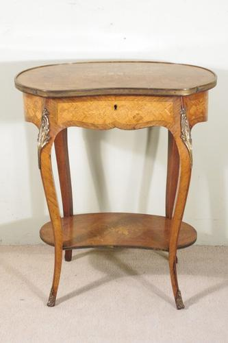 French Ormolu Mounted Kingwood Work / Vanity Table with Parquetry & Marquetry Inlay (1 of 20)