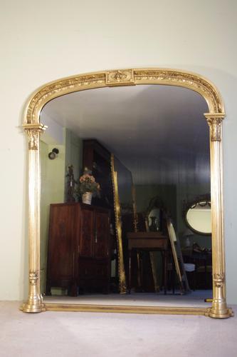 19th Century English Gilt Overmantle (1 of 1)