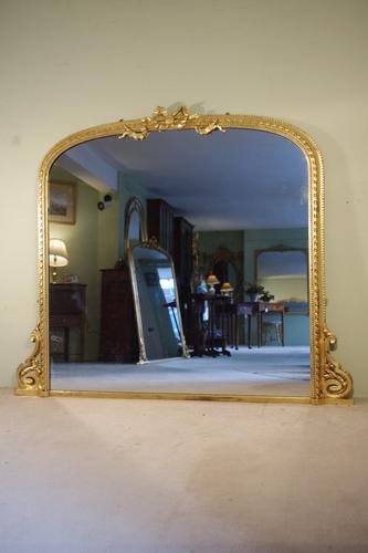Gilt Arch Top Overmantle Mirror (1 of 1)