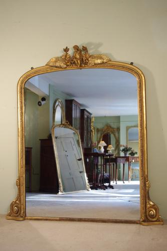 Gilt Arch Top Overmantle Mirror c.1880 (1 of 1)