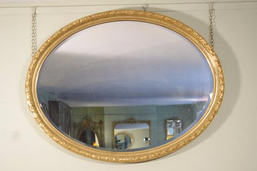 Large Oval Gilt Wall Mirror (1 of 1)