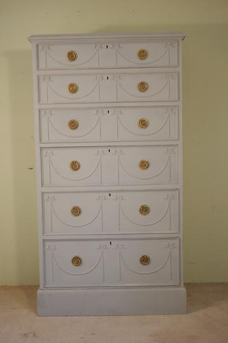 Painted Tall Six Drawer Chest (1 of 1)