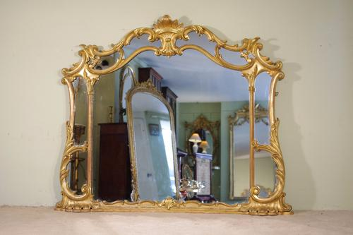 Victorian Giltwood Overmantle Mirror (1 of 1)