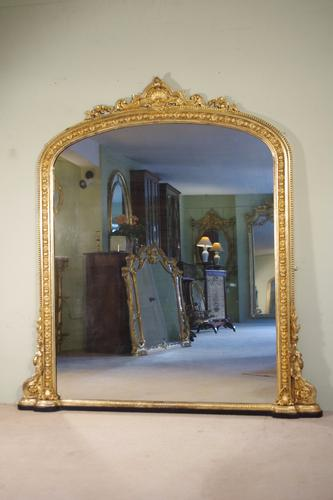 19th Century English Gilt Arch Top Overmantle (1 of 1)