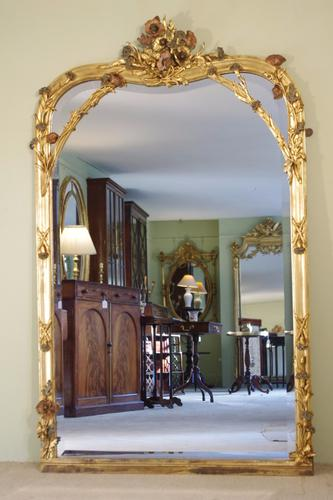 French Gilt Art Nouveau Mirror (1 of 1)