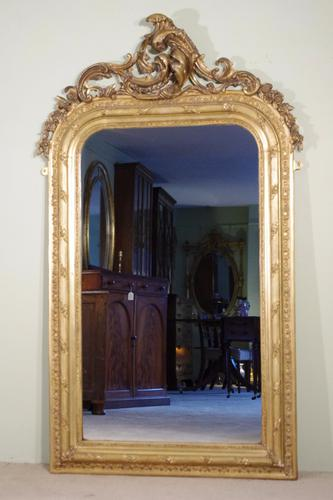 Gilt Arch Top Mirror c.1880 (1 of 1)