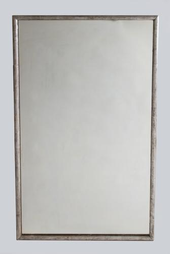 French Large Silvered Overmantle Mirror c.1900 (1 of 6)
