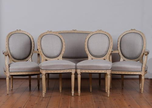 Late 19th Century 5 Piece French Painted Salon Suite (1 of 1)