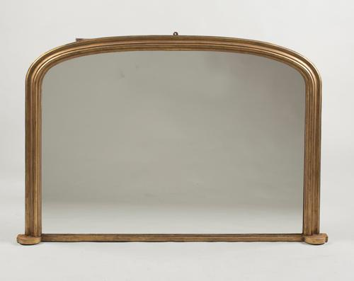 19th Century English Gilt Archtop Overmantle Mirror (1 of 1)