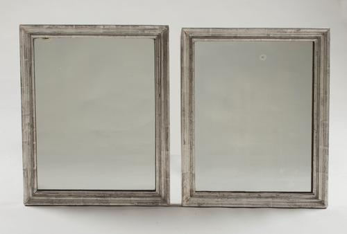 A Near Pair of French 19th Century Rectangular Silvered Wall Mirrors (1 of 1)