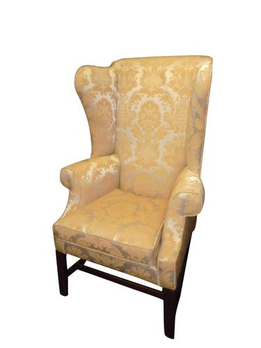 A Small Georgian Mahogany Ladies Wing Chair C.1800 (1 of 2)