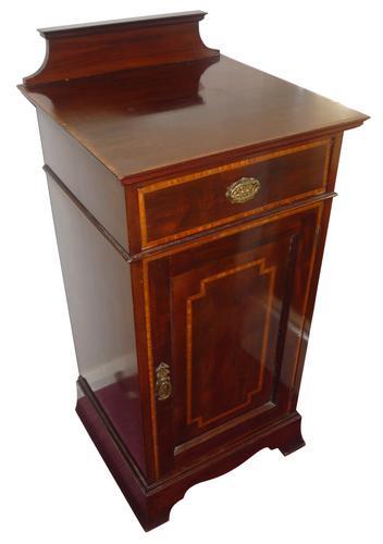 Fine Quality Inlaid Mahogany Bedside Cupboard C.1910 (1 of 1)