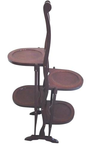 Inlaid Mahogany Folding Cake Stand c.1920 (1 of 1)