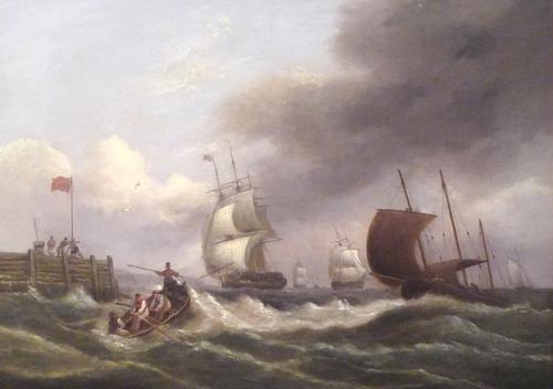 Oil Painting by Thomas Luny c.1820 (1 of 1)