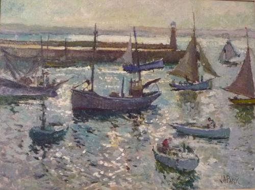 Oil Painting of St. Ives Harbour by John Anthony Park c.1930 (1 of 1)