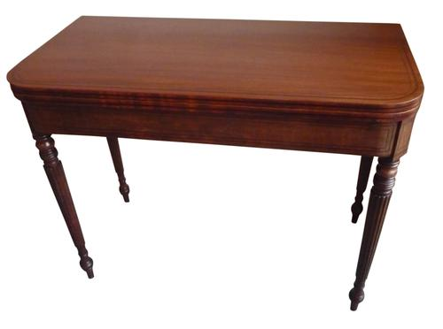 Georgian Mahogany Card Table c.1825 (1 of 1)