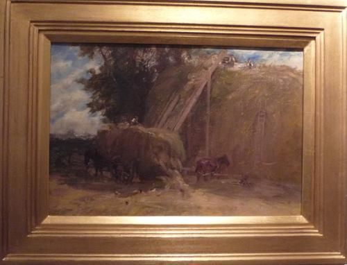 Oil Painting 'Harvesting' by S.E.Scott (1 of 1)