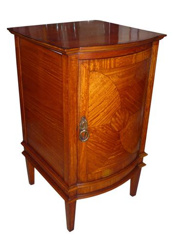 Edwardian Inlaid Satinwood Bedside (1 of 2)