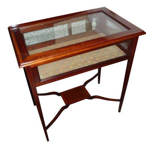 Edwardian Inlaid Mahogany Display Table c.1910 (1 of 1)
