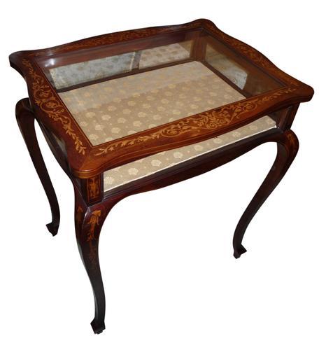Mahogany Inlaid Display Table (1 of 1)