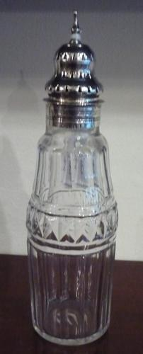 Silver & Glass Sugar Sifter by P & A Bateman (1 of 1)