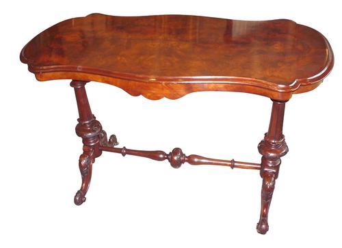 Victorian Burr Walnut Side Table C.1870 (1 of 1)