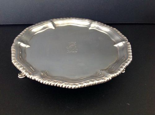 Antique Georgian Silver Salver - 1762 (1 of 1)