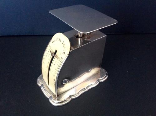 Antique Victorian Silver Postal Scales -1899 (1 of 1)