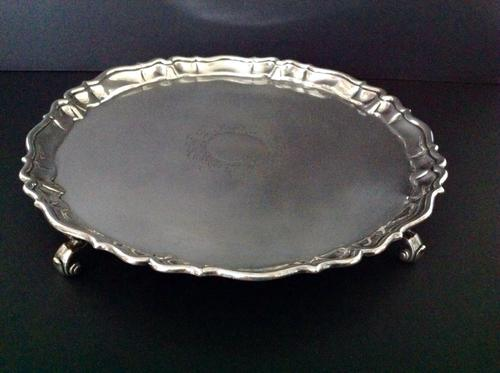 Large Antique George II Silver Salver (1 of 1)