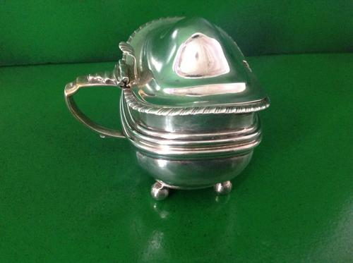 Large Antique Georgian Silver Mustard Pot - 1820 (1 of 1)