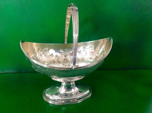 Large Bateman Antique Georgian Silver Sugar Basket - 1802 (1 of 1)