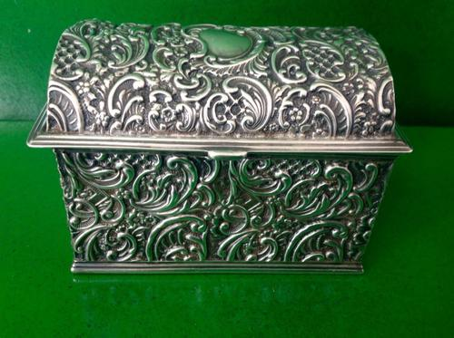 Antique Victorian Silver Jewellery Casket - 1897 (1 of 1)