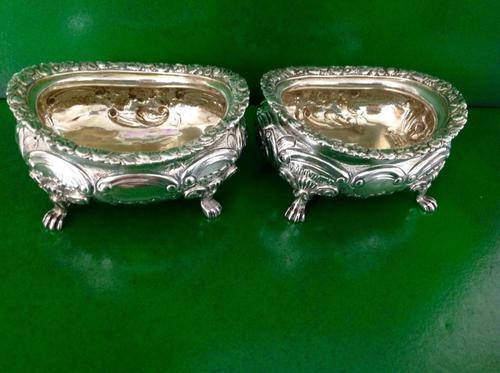 Pair of Master Georgian Silver Gilded Salts - 1817 (1 of 1)