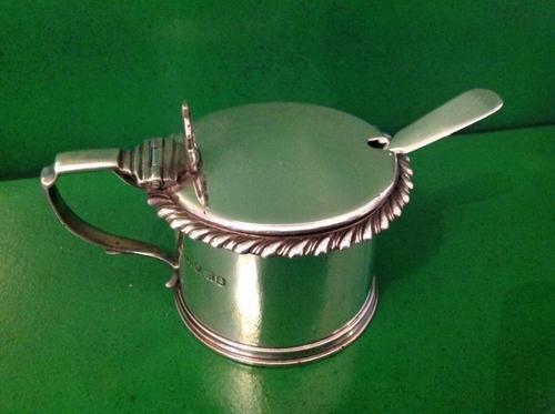 Antique Georgian Silver Drum Mustard Pot - 1828 (1 of 1)