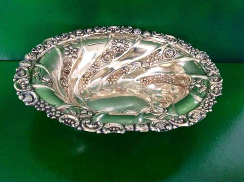 Antique Victorian Gilded Silver Dish - 1889 (1 of 1)