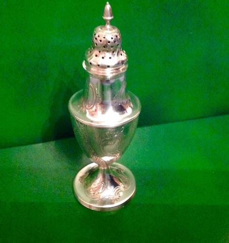 Rare Bateman Antique Georgian Silver Caster - 1790 (1 of 1)