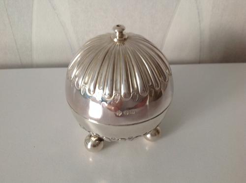 Antique Victorian Silver String Box - 1898 (1 of 1)