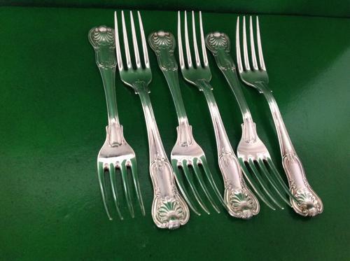 Set of 6 Storr Antique Georgian Silver Hourglass Dinner Forks (1 of 1)