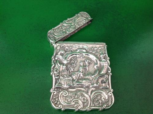 Antique Victorian Silver Cased Card Case - Nathaniel Mills (1 of 1)