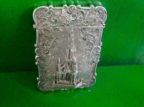 Antique Victorian Silver Card Case - Nathaniel Mills (1 of 1)