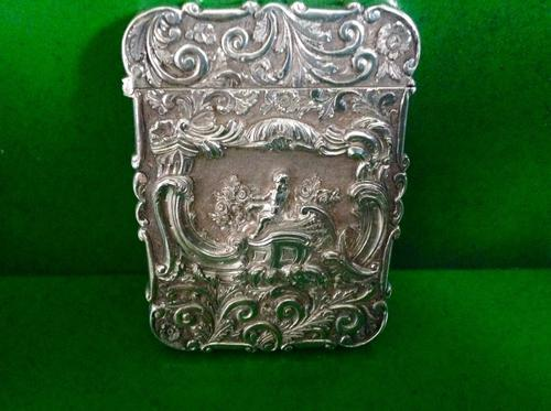 Antique Victorian Silver Card Case - Nathaniel Mills 1846 (1 of 1)
