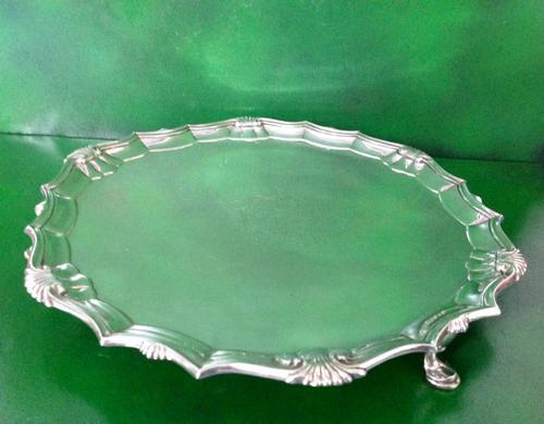Large Antique Georgian Silver Salver - 1766 (1 of 1)