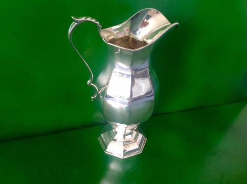 Tall Antique Edwardian Silver Jug (1 of 1)