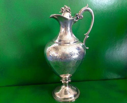 Antique Victorian Silver Claret Jug / Wine Ewer (1 of 1)