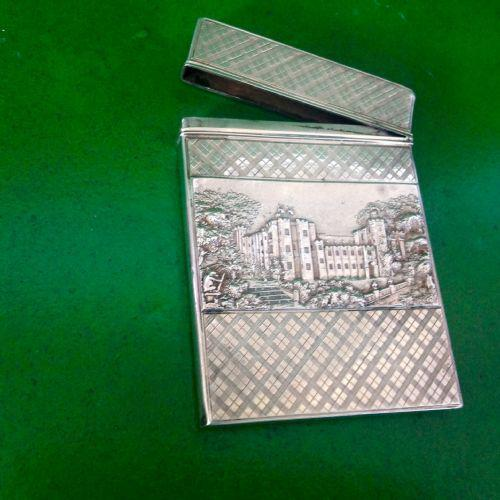 Nathaniel Mills Antique Double Castletop Silver Card Case (1 of 1)