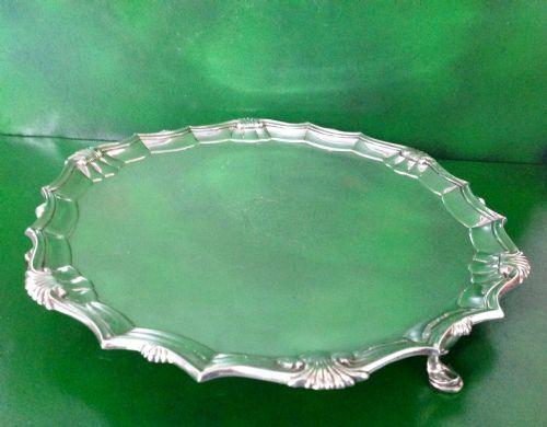 Antique Georgian Silver Salver - Heming (1 of 6)